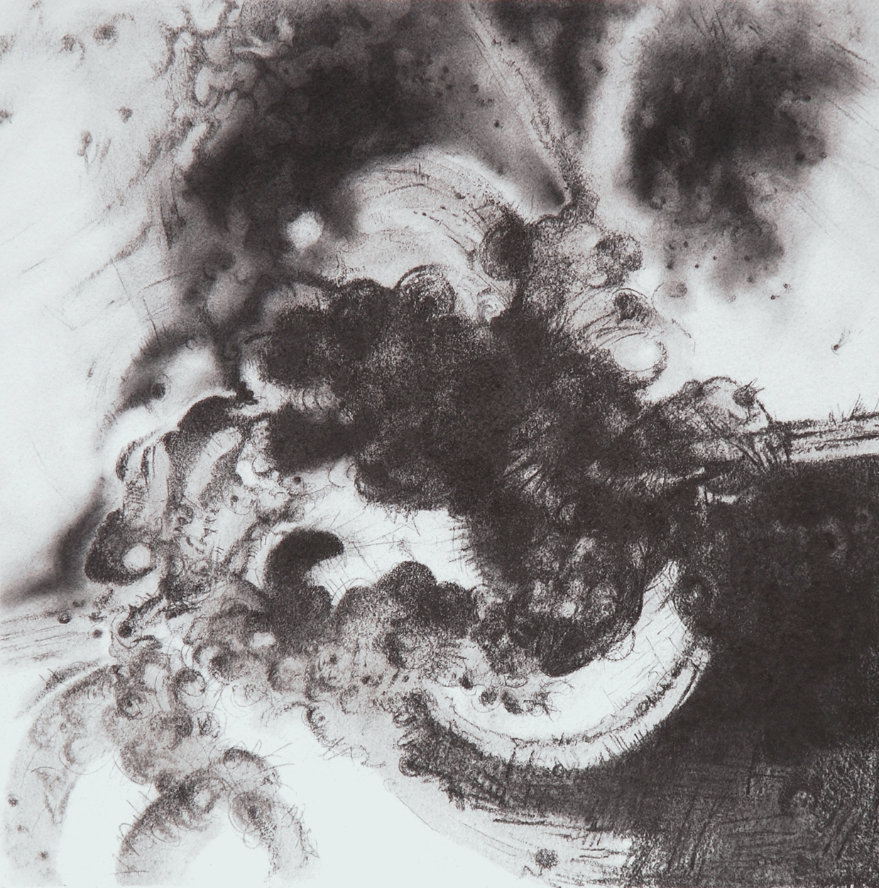 """Intercessions VI, 12"""" x 12"""", Graphite on Rives, 2013"""
