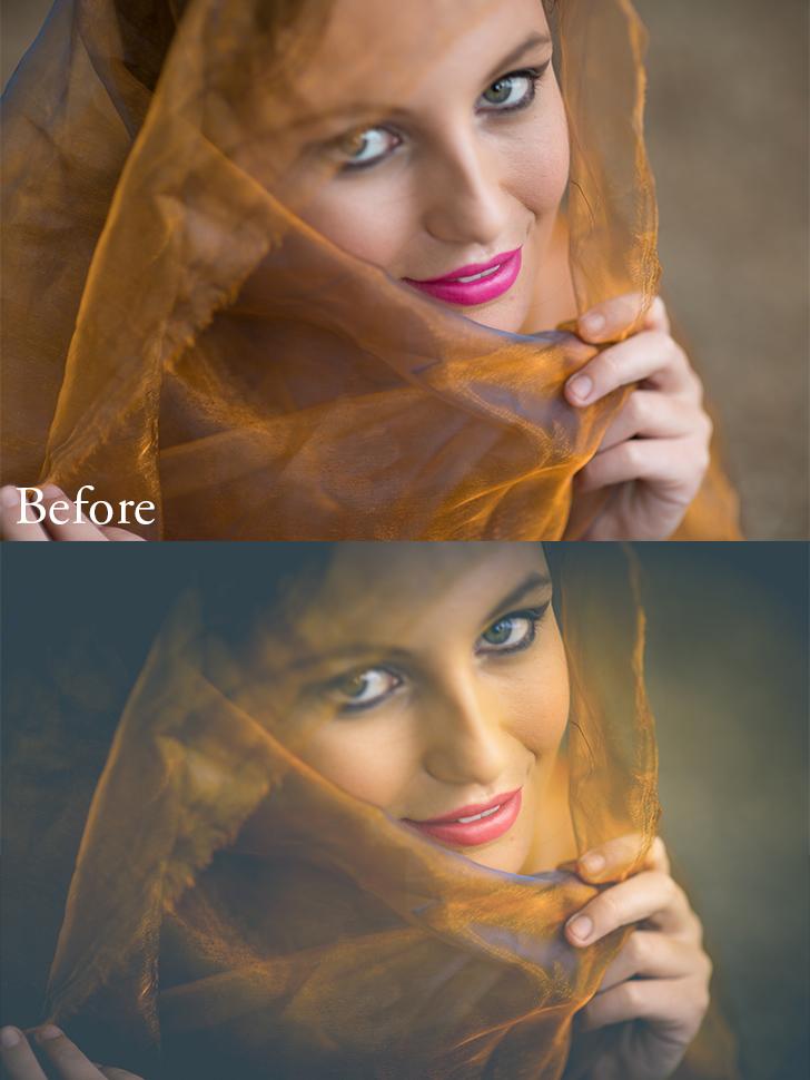 Presets used: 3-Color Correct-Reduce Yellows, 4-Tone/Tint-Bronze Tone 2, 5-Polish-Soften, r-Vignette-Black Heavy  Brushes used: Soften Skin, Enhance Eyes