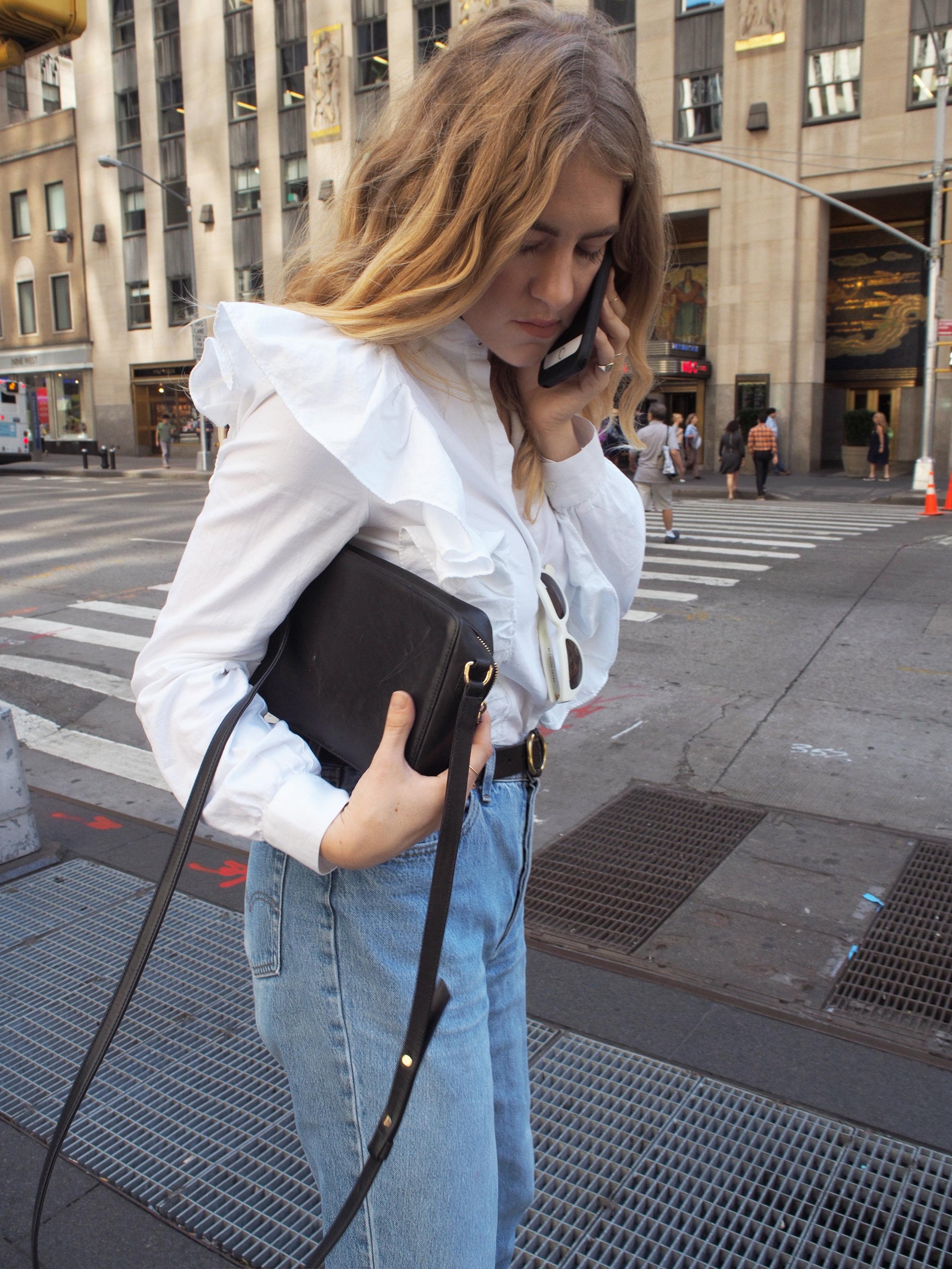 NYFW New York Fashion Week Day Three Recap OOTD H&M Ruffled Top Levis Acne Studios Reem Acra R&Co. Backstage Taylr Anne www.taylranne.com