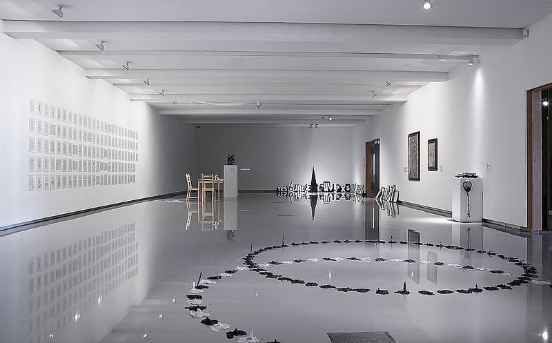 Believe not every spirit, but try the spirits , 2015, curated by Lars Bang Larsen & Marco Pasi, installation view, Monash University Museum of Art (MUMA), Sydney, Australia, photography by Zan Wimberley