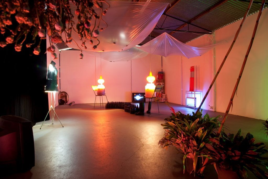 Matt Huppatz,  Shed Light Works,  2009. Installation view, Contemporary Art Centre of South Australia Project Space. Courtesy of the artist.