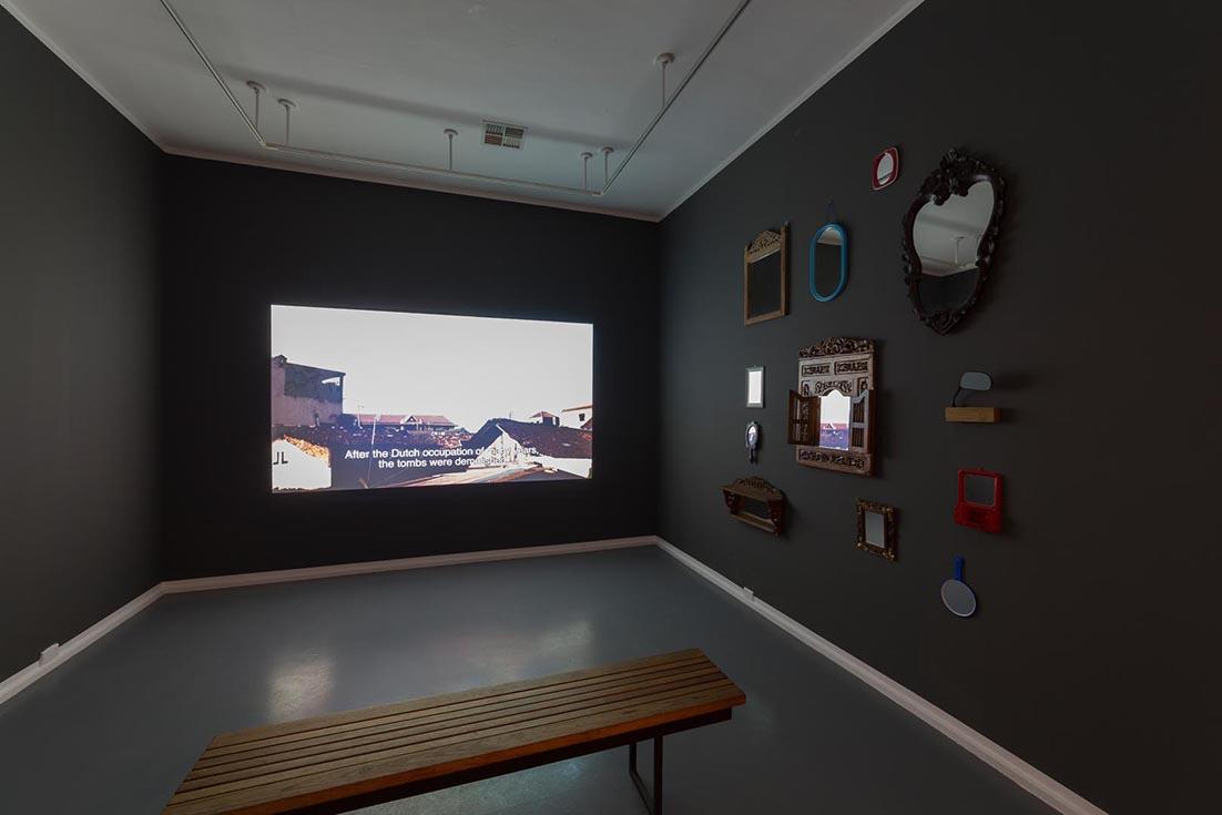 Keg de Souza,  If There's Something Strange in Your Neighbourhood....Bu dekum,  2014, installation view Contemporary Art Centre of SA. Photograph Sam Roberts.