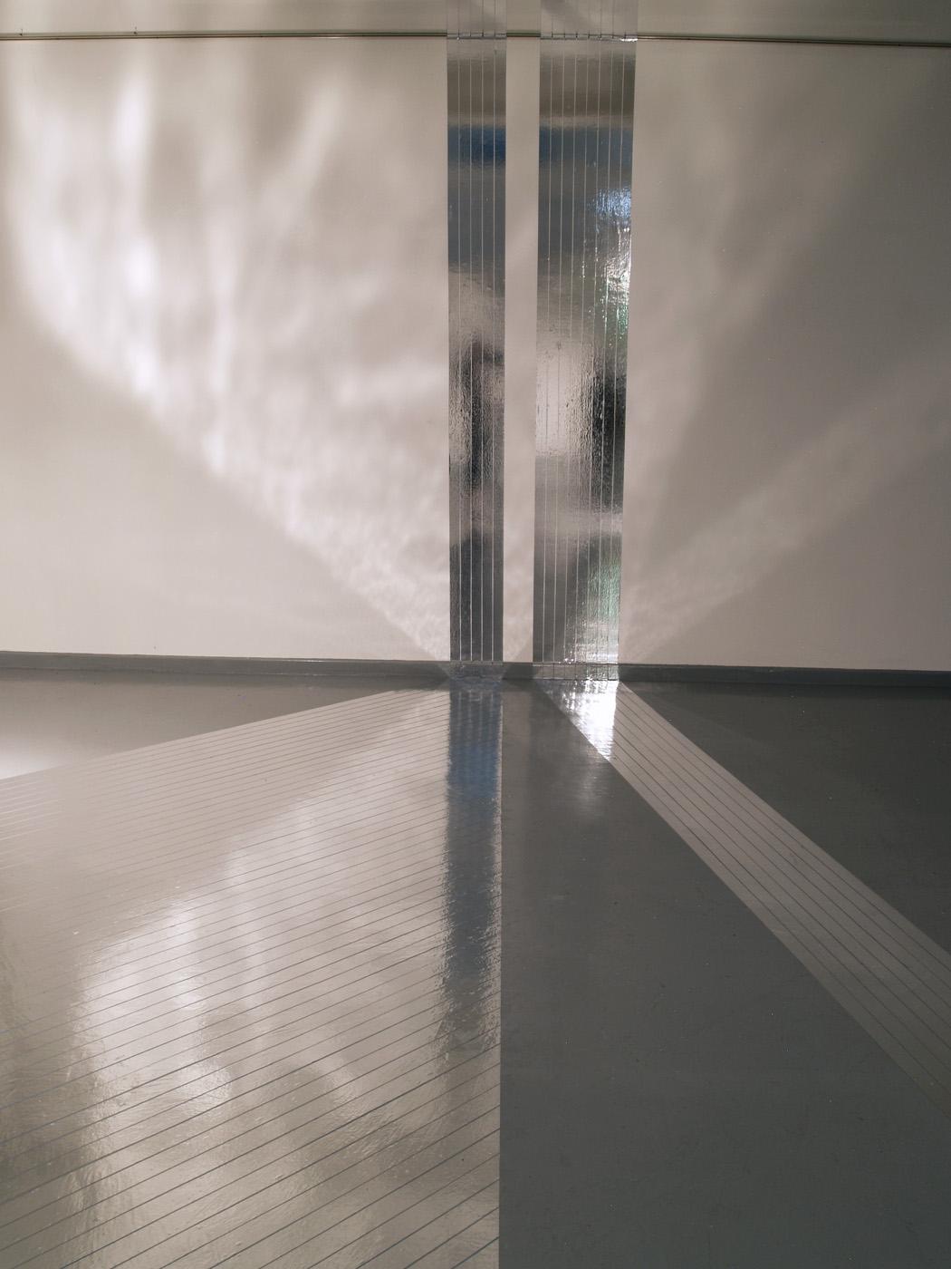 Biljana Jancic,  Spill,  2013 , aluminium tape, masking tape Installation view,  Opposed , The Lock-Up, Newcastle, 2013. Courtesy and copyright the artist. Photograph: Biljana Jancic