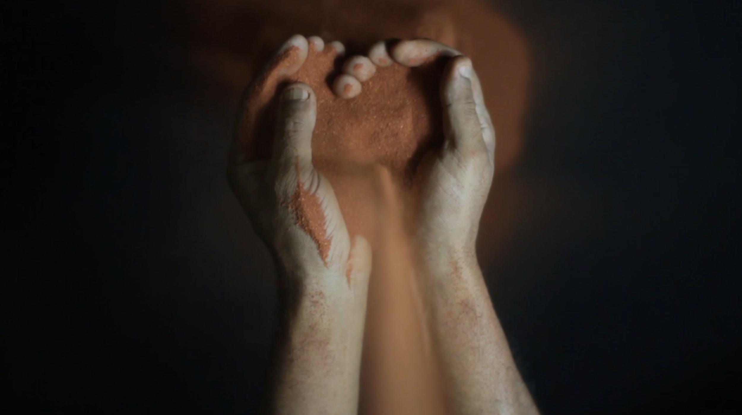 Robert Fielding,  In Our Hands,  2016. High definition video (Ed.5). Duration 1:50 (video still). Courtesy the artist.