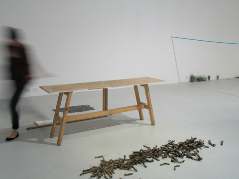 Yhonnie Scarce,  gone in no time, gone in no time , Experimental Art Foundation October 2009. Photo by Teri Hoskin.