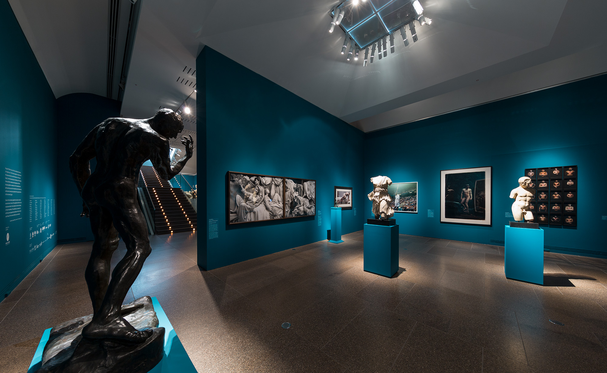 Installation view  Versus Rodin: bodies across space and time , Art Gallery of South Australia, 2017, featuring  The classical body .