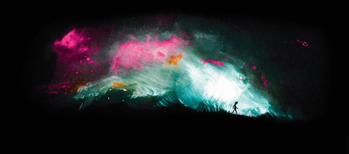 Darby Hudson,  Walk , 2017, acrylic and digital on canvas, 50 x 10cm. Courtesy of the artist.