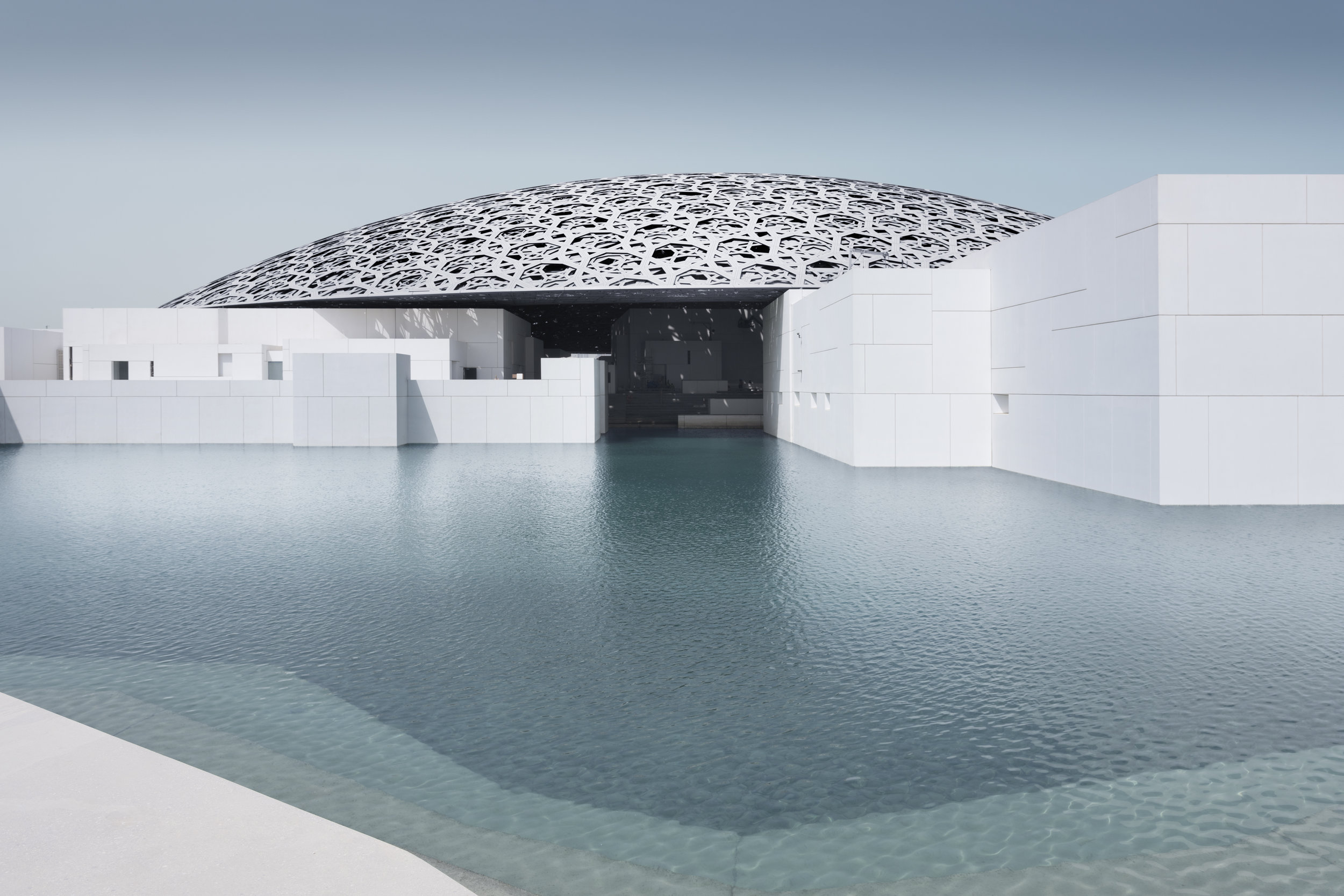 Louvre Abu Dhabi's exterior © Louvre Abu Dhabi, Photography: Mohamed Somji