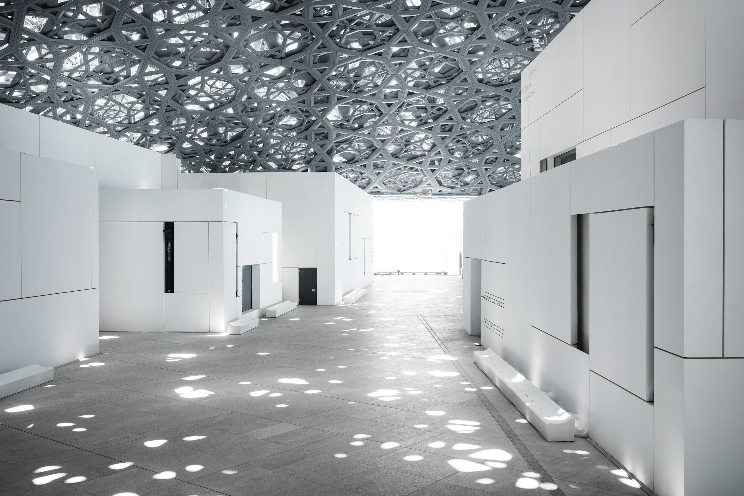 Louvre Abu Dhabi's  Rain of Light  © Louvre Abu Dhabi, Photography: Mohamed Somji