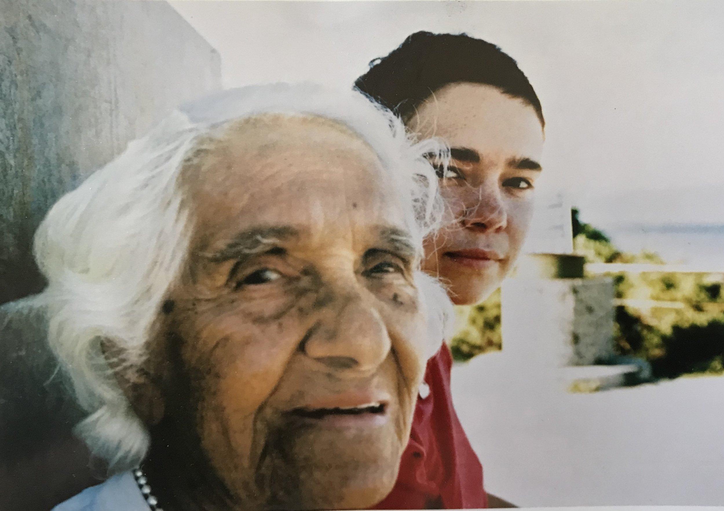 Nan and Ali, Fowlers Bay 1998, family photo. Courtesy Ali Gumillya Baker