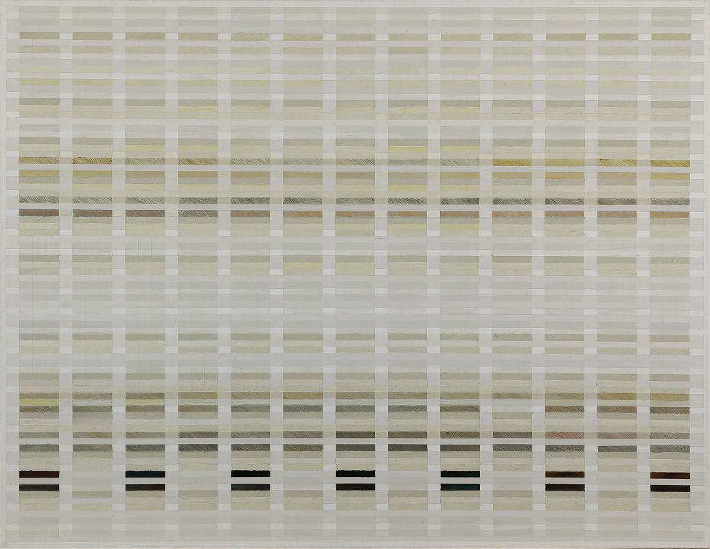 Tanya Goel,  Field, notation (2/1) , 2015, 274 x 213cm. Courtesy  Nature Morte .