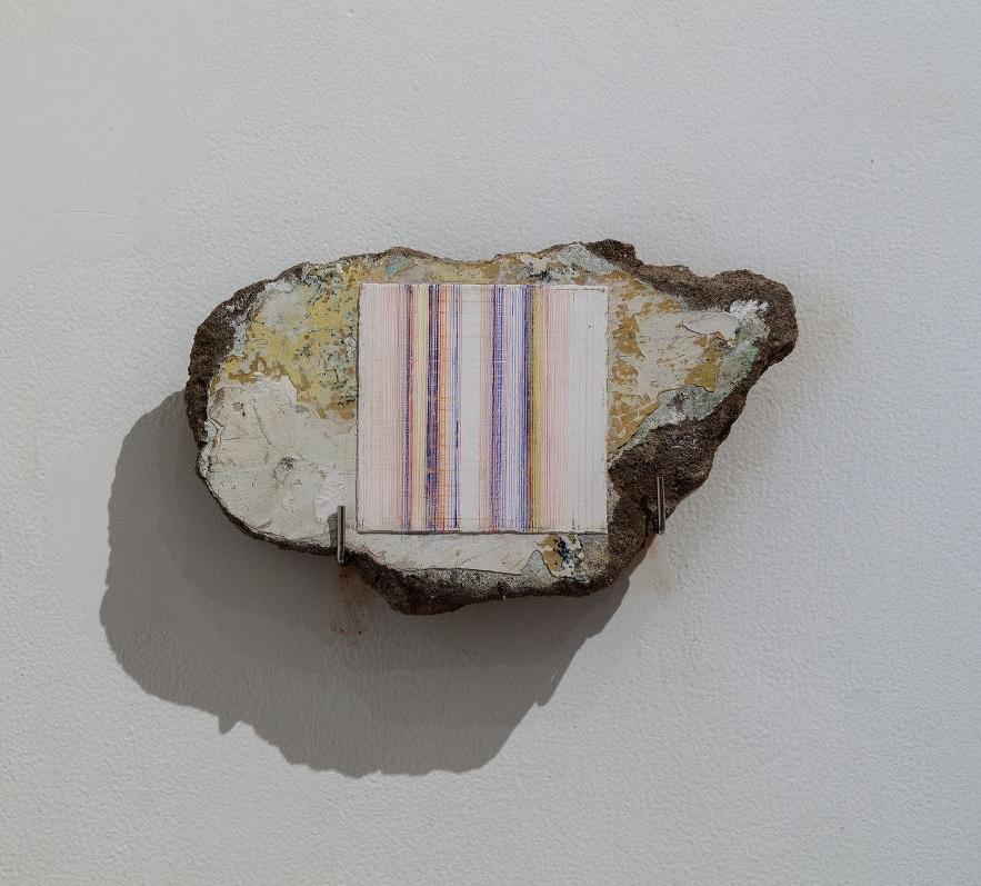 Tanya Goel,  Fresco on Marble  (detail), 2015, dimensions variable. Courtesy  Nature Morte .
