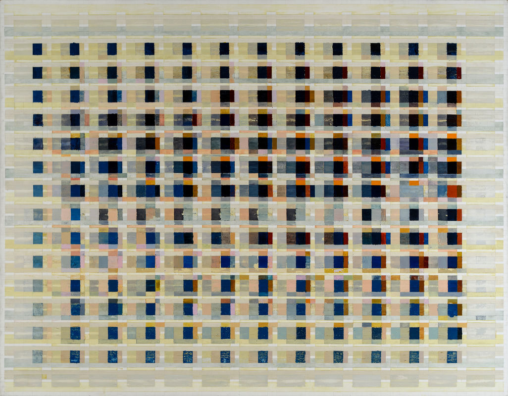 Tanya Goel,  Field data (in dots per inch) , 2016, 274 x 213cm. Courtesy  Nature Morte .
