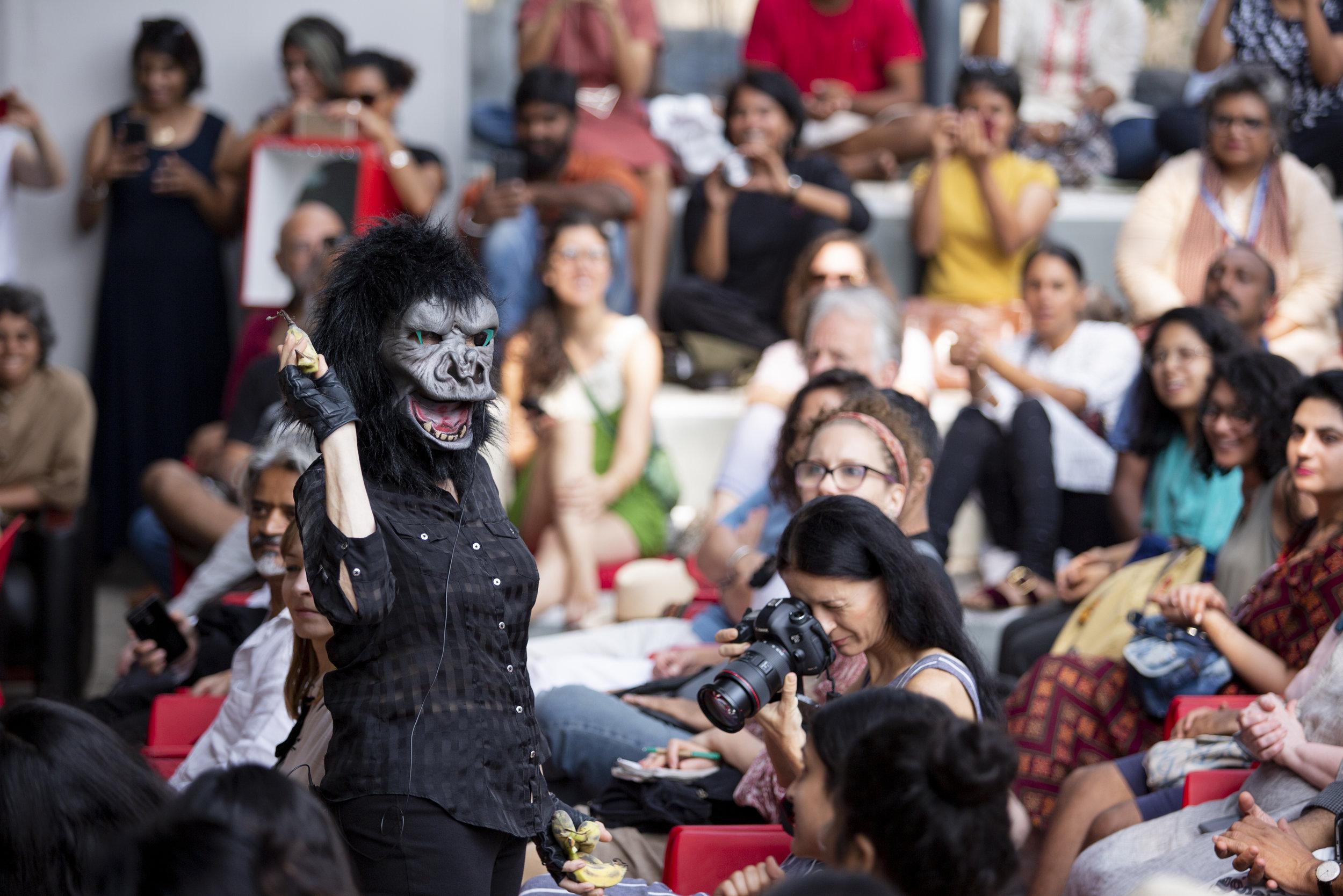 Guerrilla Girls, 2018 Kochi-Muziris Biennale. Courtesy Kochi Biennale Foundation.