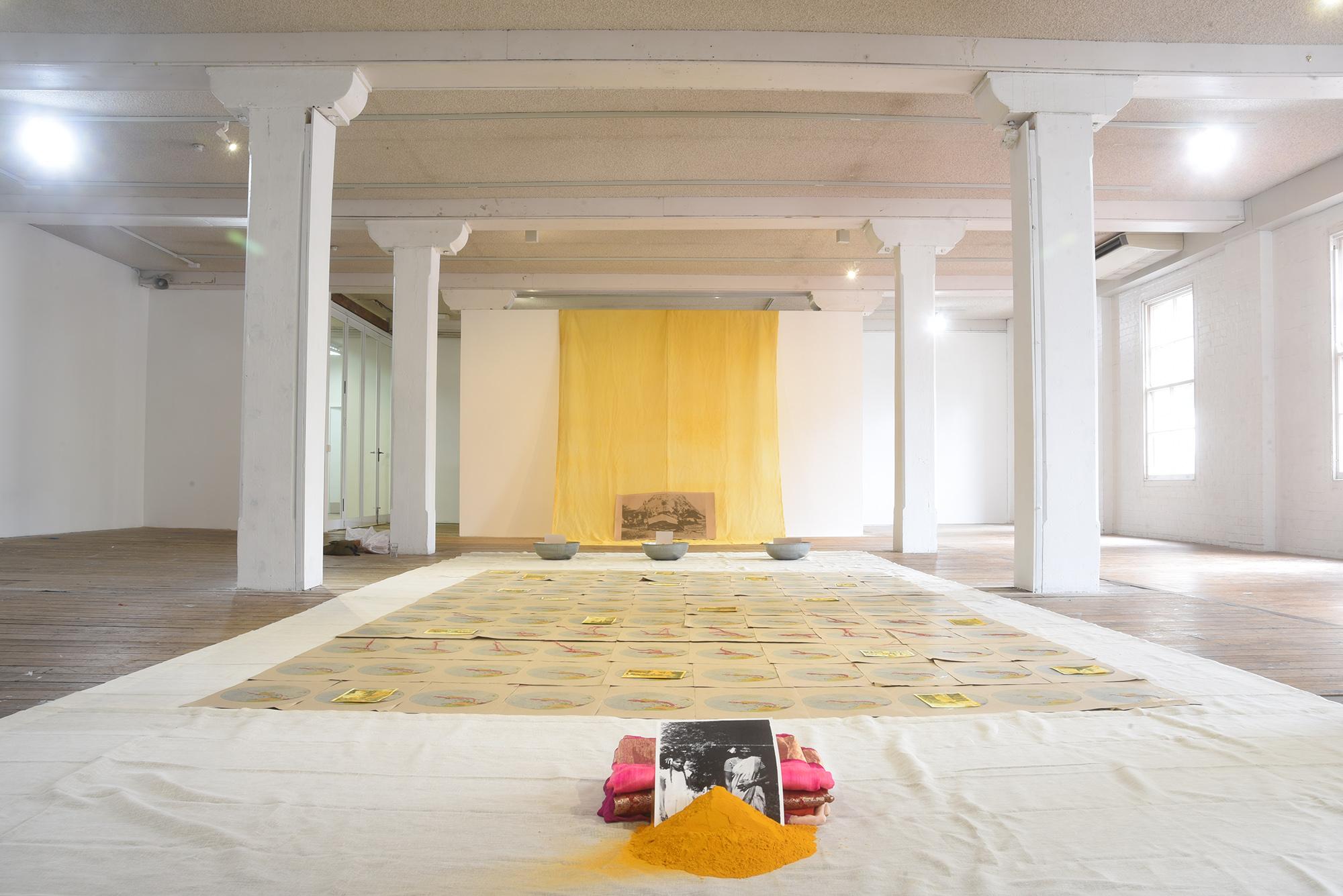 Shivanjani Lal,  Yaad Karo , installation view, Metro Arts, Brisbane, 2019. Photo courtesy the artist.