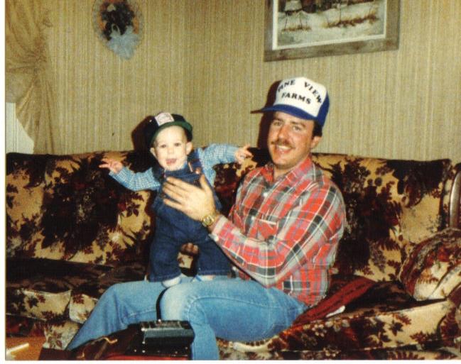 John and John Jr in 1983