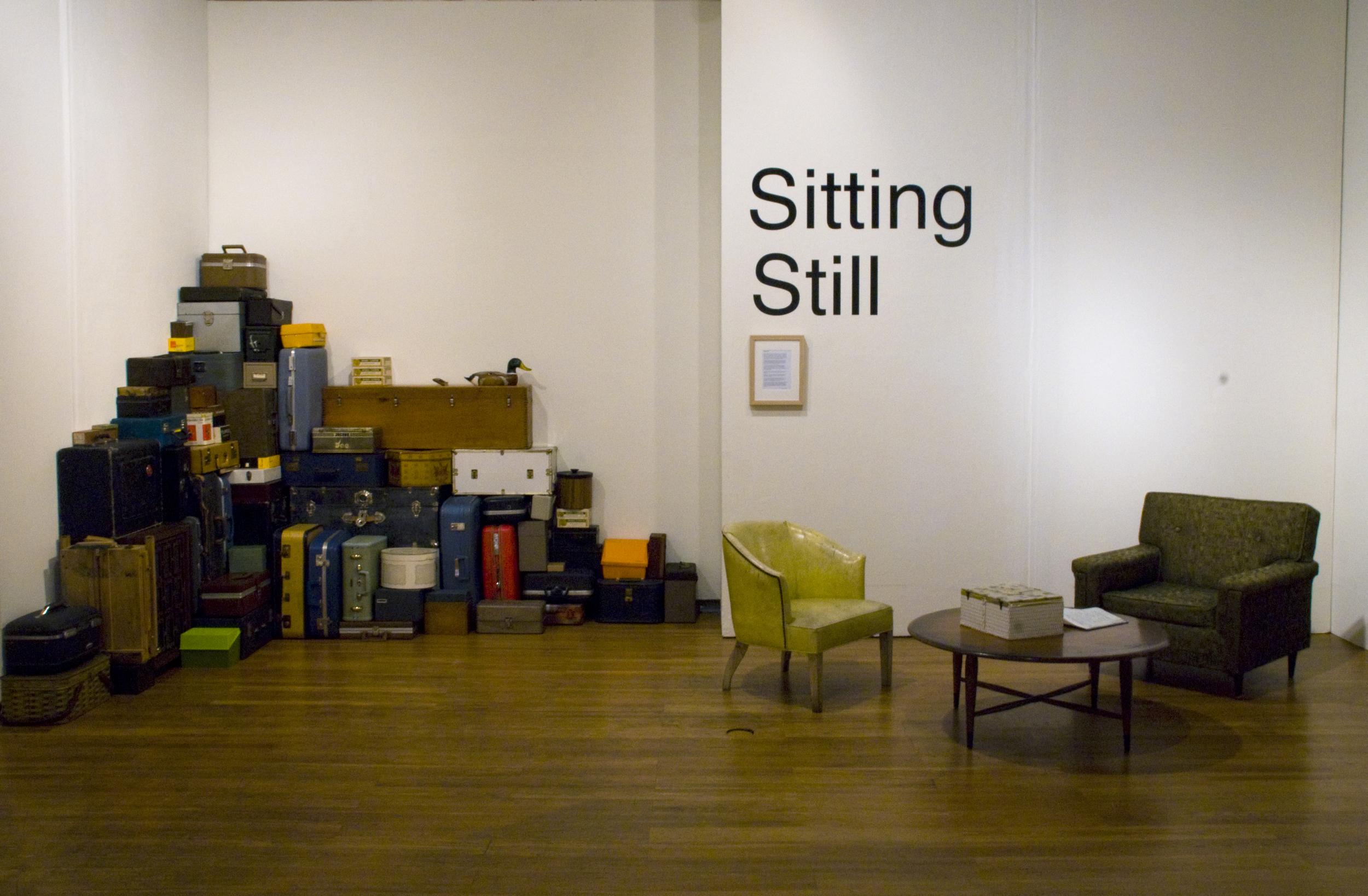 sitting still