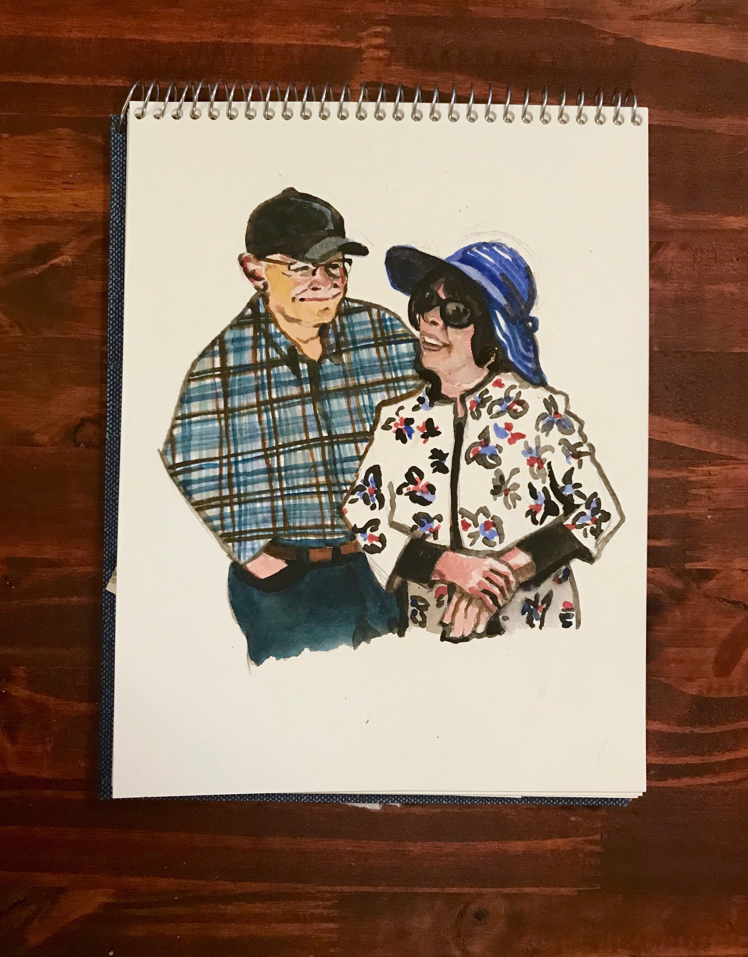 Mom and Dad in their Patterns, 2018