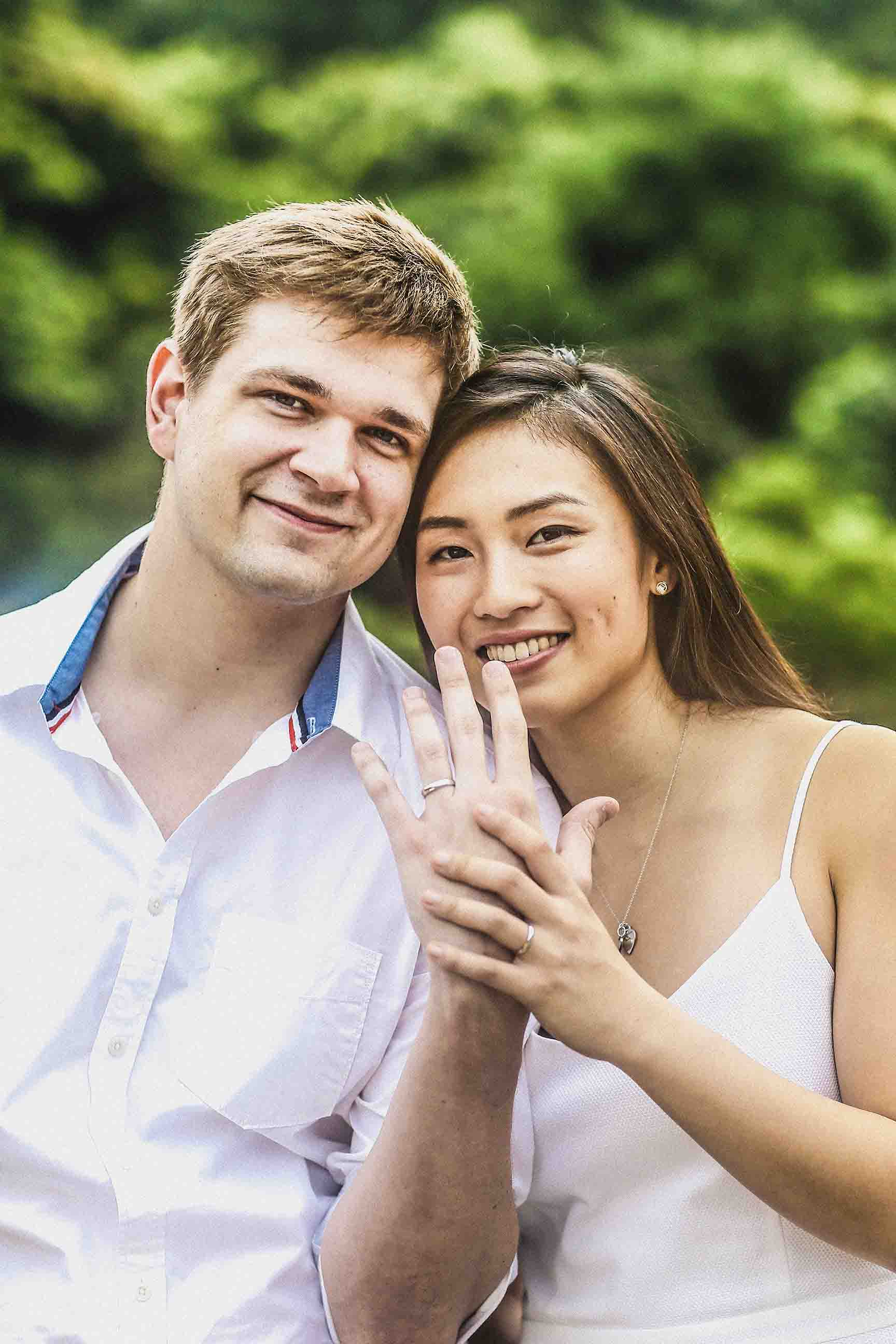 Engagement Portrait of Tyler Holland and Charlotte Chang