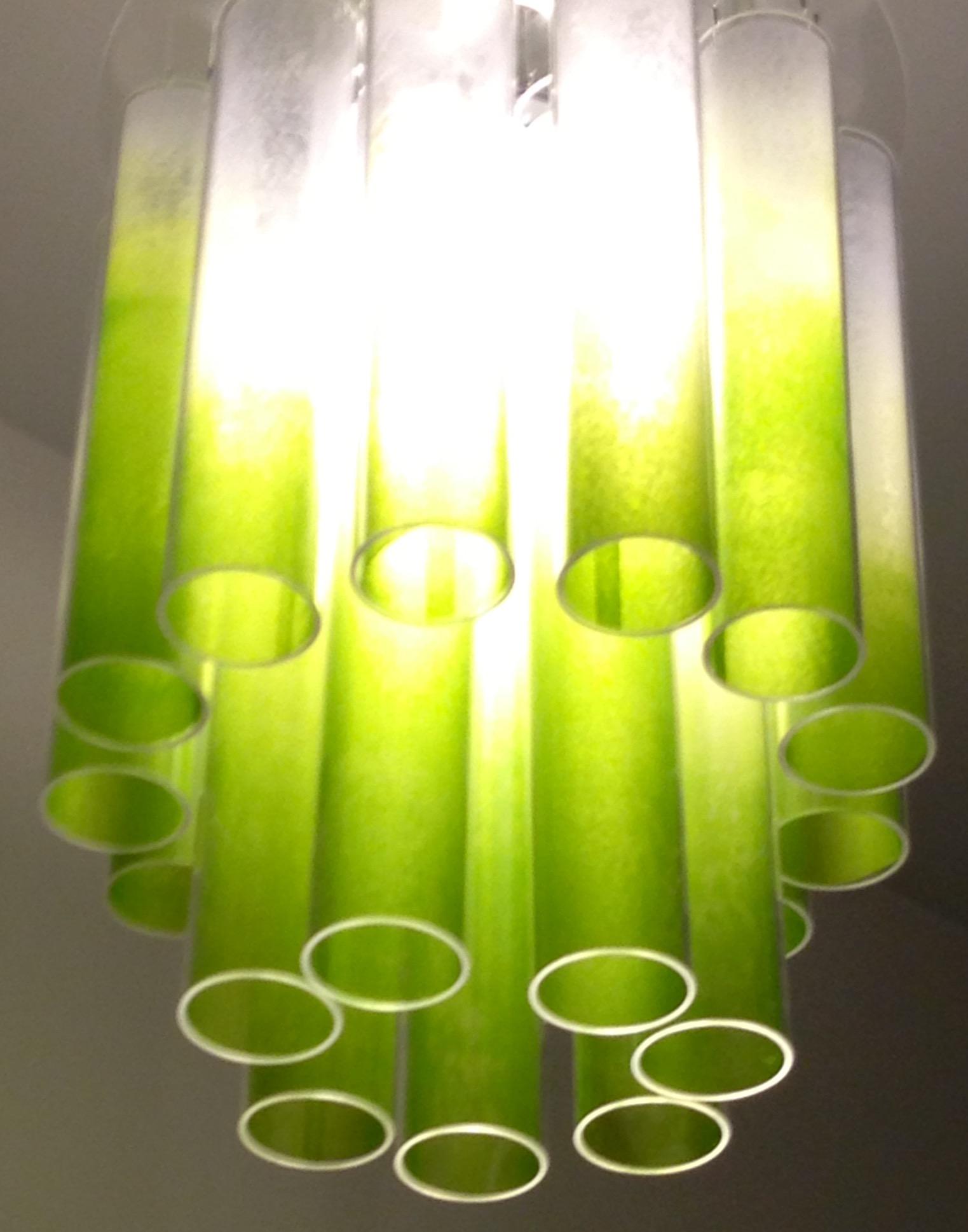 solar chandelier - green gels www.light.co.uk