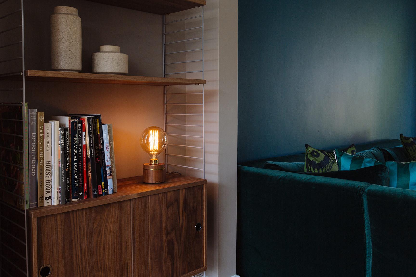 Luna Lamp Bulb - walnut - l-ight.co.uk