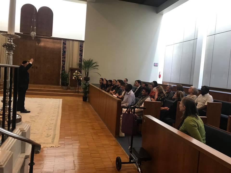 Rabbi Albert Gabbai engaged the Scholars in dialogue about Judaism.