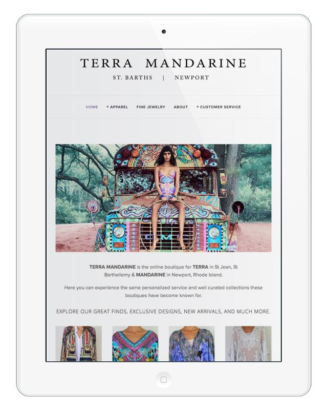 Terra Mandarine / Online Boutique