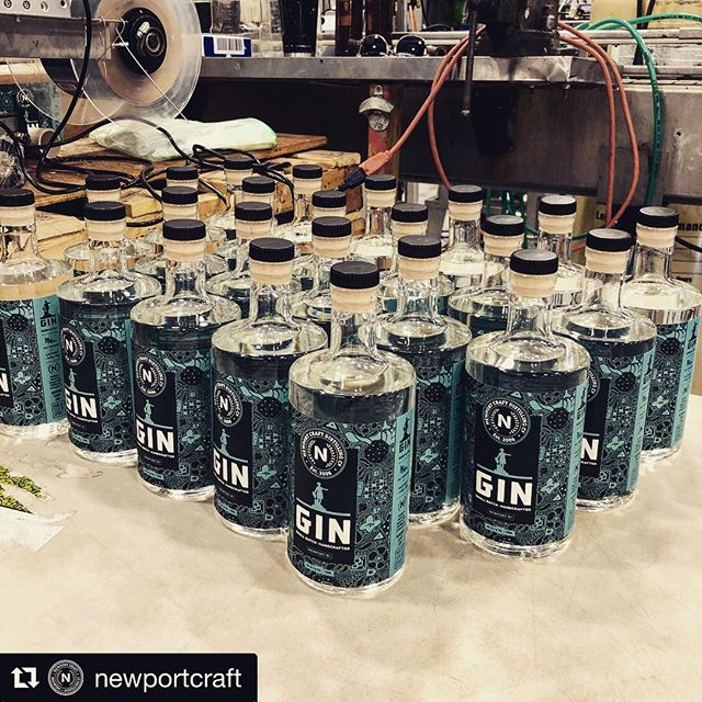 Love this! Our gin label collaboration with @newportcraft hits the assembly line.