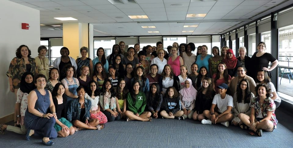 Liz (Front, Left) with our 2015 Summer Leadership and Debate Intensive Trainees.