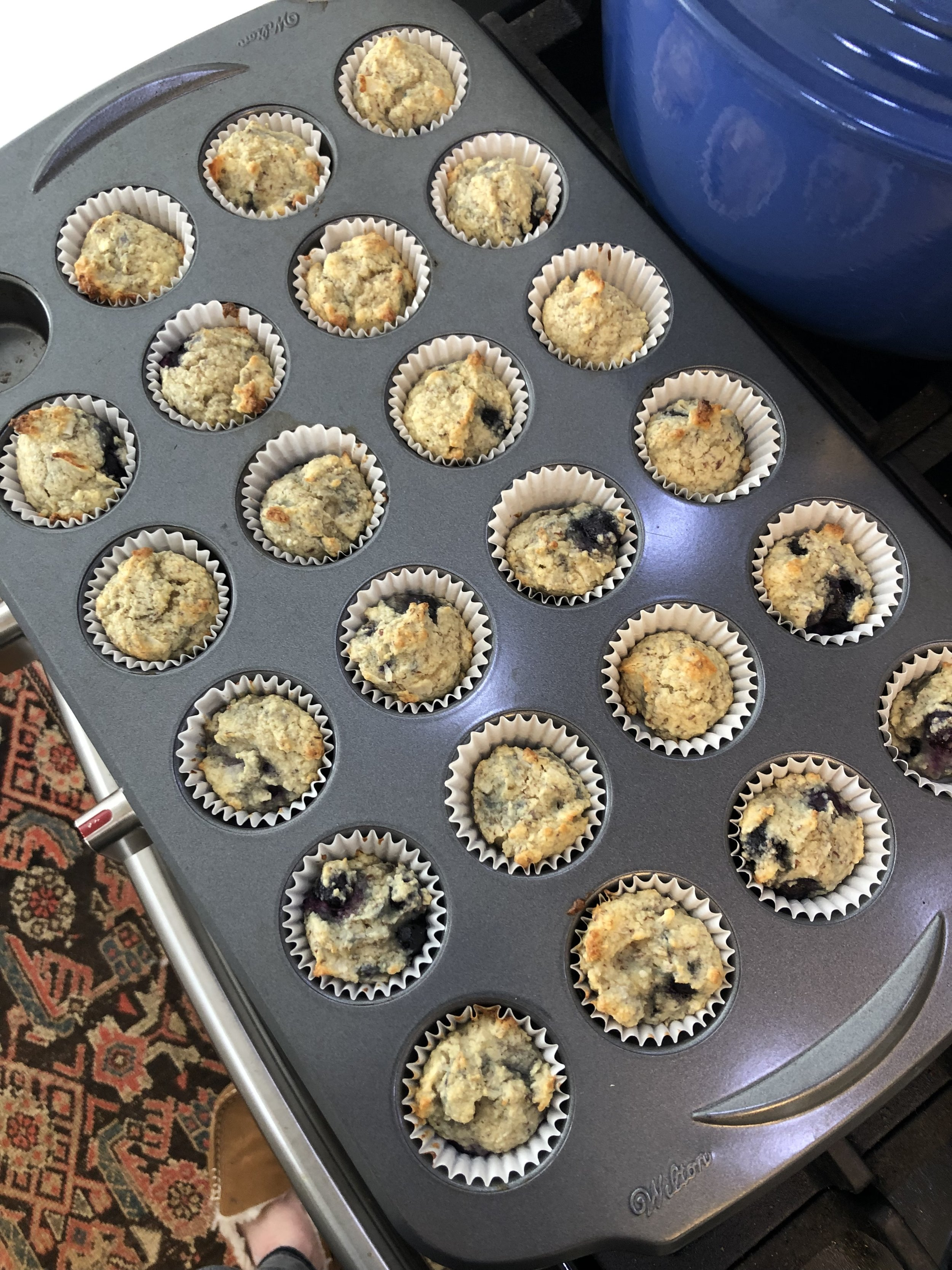 This is our petit four / mini muffin pan. This recipe filled this tin plus 4 more so it makes 28 minis 😉