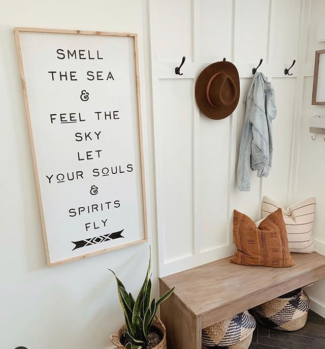 One of our newest signs made custom for @frengpartyof5 Her home is so beautiful, so if you need any inspiration hop on over there and get all the details. I have just been swooning over her page! . . . #currenthomeview #kismetcheckoutmyhouse #aabhome #homedecor #wallhanging #walldecor #wallsign #walldecorsigns #signs #quotesigns