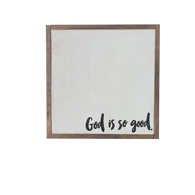 God is so so so good! Here is another sign  we are launching for our August collection! Raise your hand if God has been good to you! 🙋🏼‍♀️ . . . #christian #God #godissogoodtome #jesuschrist #jesus #handmademarket #handmade #signs #quotesigns #homedecorideas #homedecor #wallhanging #wallart #walldecor #framedart #happyquotes #inspirationalquotes #wordstoliveby