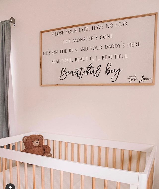 How adorable did this nursery turn out. @amanda.savvy out did her self for her first baby boy coming! One of the things I love about making signs is hearing and seeing people's stories about why they wanted a particular set of words in their home. It is amazing to me what words can do for a person. Congratulations to you and your family! . . . #kismetcheckoutmyhouse #aabhome #homedecor #wallhanging #walldecor #signs #woodsigns #nursery #nurserydecor #nurserydecoration #boynursery #boysroomdecor #boysroominspo #boysroomideas #boysroomstyling #cutesayings #cutesayingsoflove #