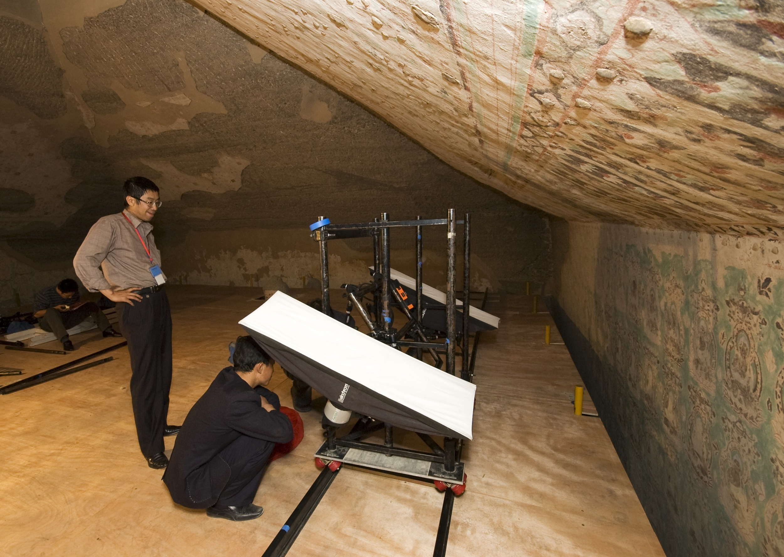 The process of digitizing a cave at the Dunhuang Academy, China