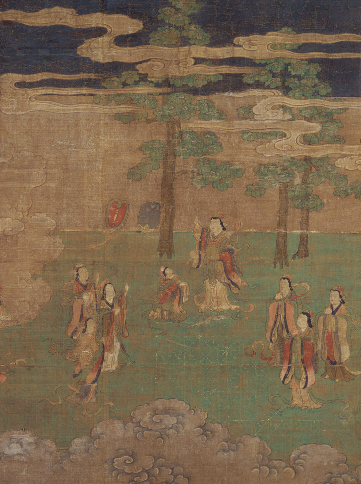 Detail from The Life of the Buddha: The Birth of the Buddha. Early 15th century CE. Muromachi.  The Met .