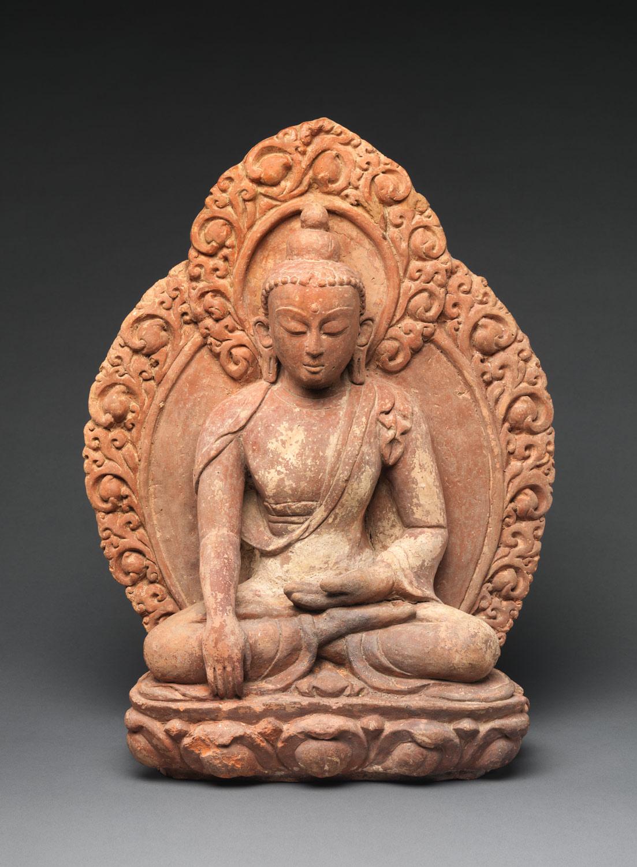 Akshobhya, the Buddha of the Eastern Pure Land. 16th-17th century. Nepal.  The Met .