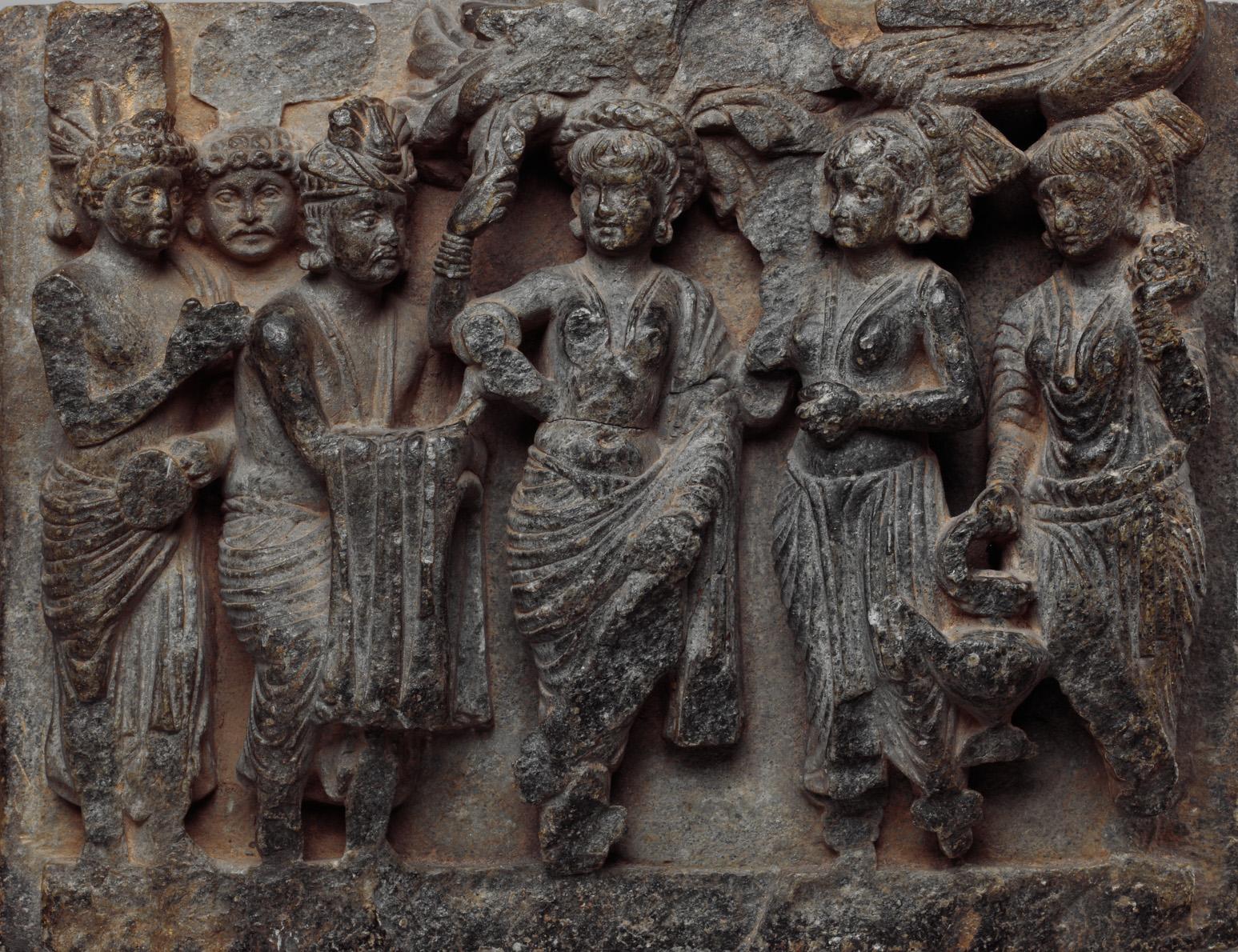 Birth of the Buddha Sakyamuni. 2nd century. Kushan. Gandhara.  The Met .