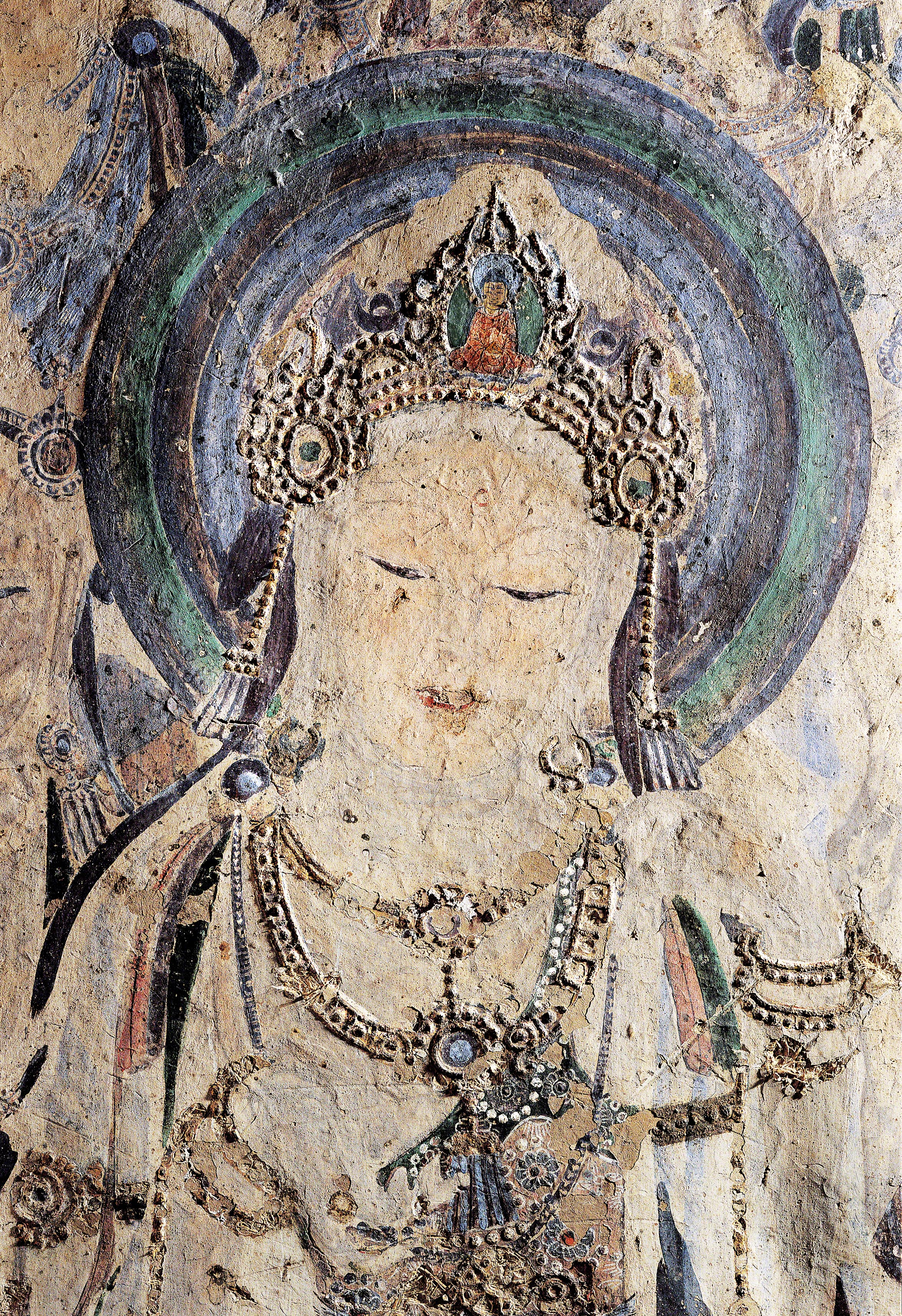 """Guanyin, also known as the Bodhisattva Avalokitesvara, or """"The Perceiver of Sounds.""""Mogao Cave 57 at Dunhuang, China. Photo courtesy of the Dunhuang Academy."""