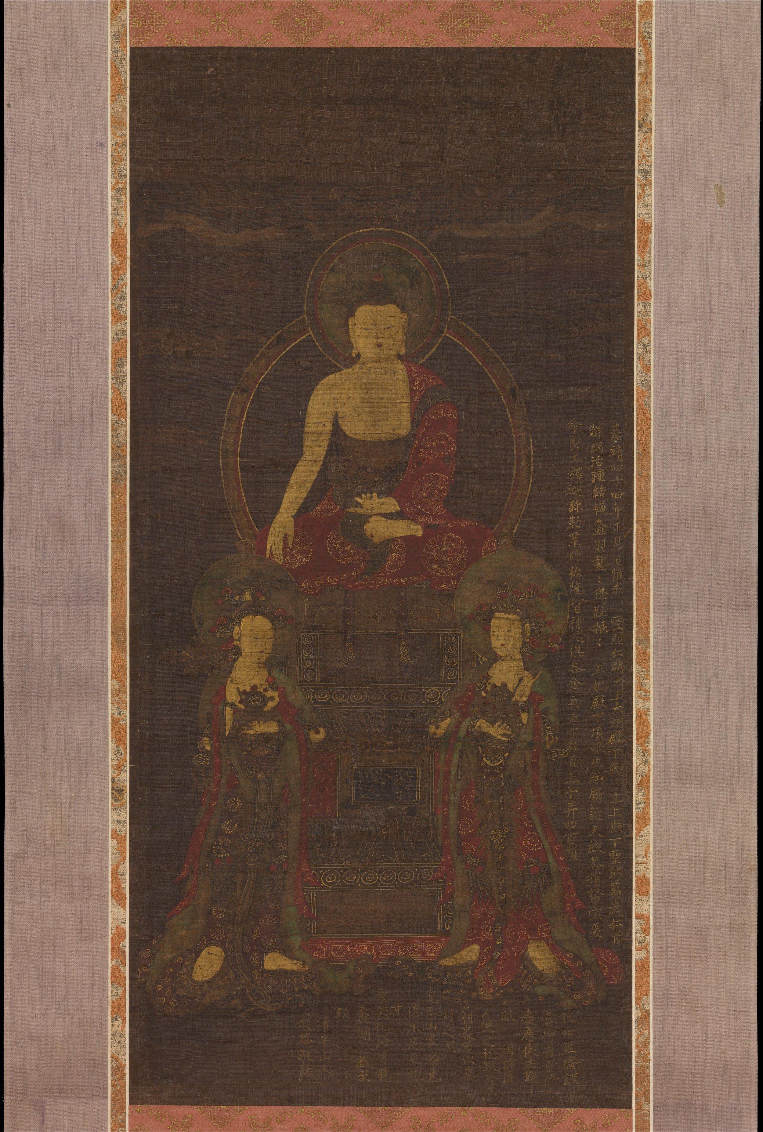 Shakyamuni Triad.1565. Joseon Dynasty. Korea. Image Courtesy of  The Met .