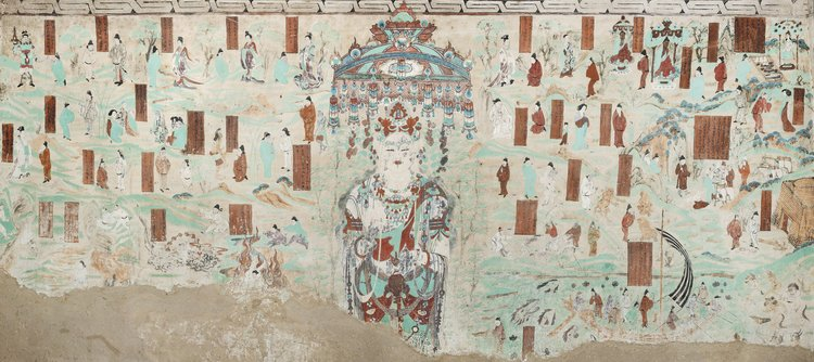 Guanyin of the Universal Gateway in Mogao Cave 45. 705-781 CE. Late Tang Dynasty. Dunhuang. Image Courtesy of the Dunhuang Academy.