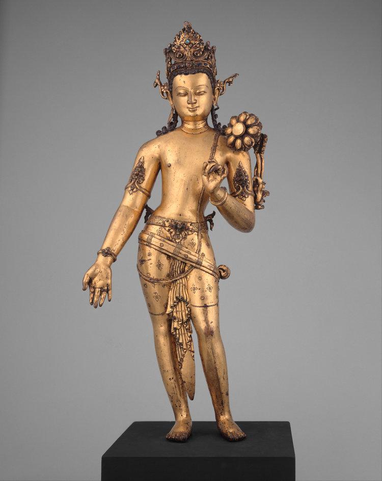 The Bodhisattva Padmapani Lokesvara. 11th century. Kathmandu Valley, Nepal. Image Courtesy of The Met .