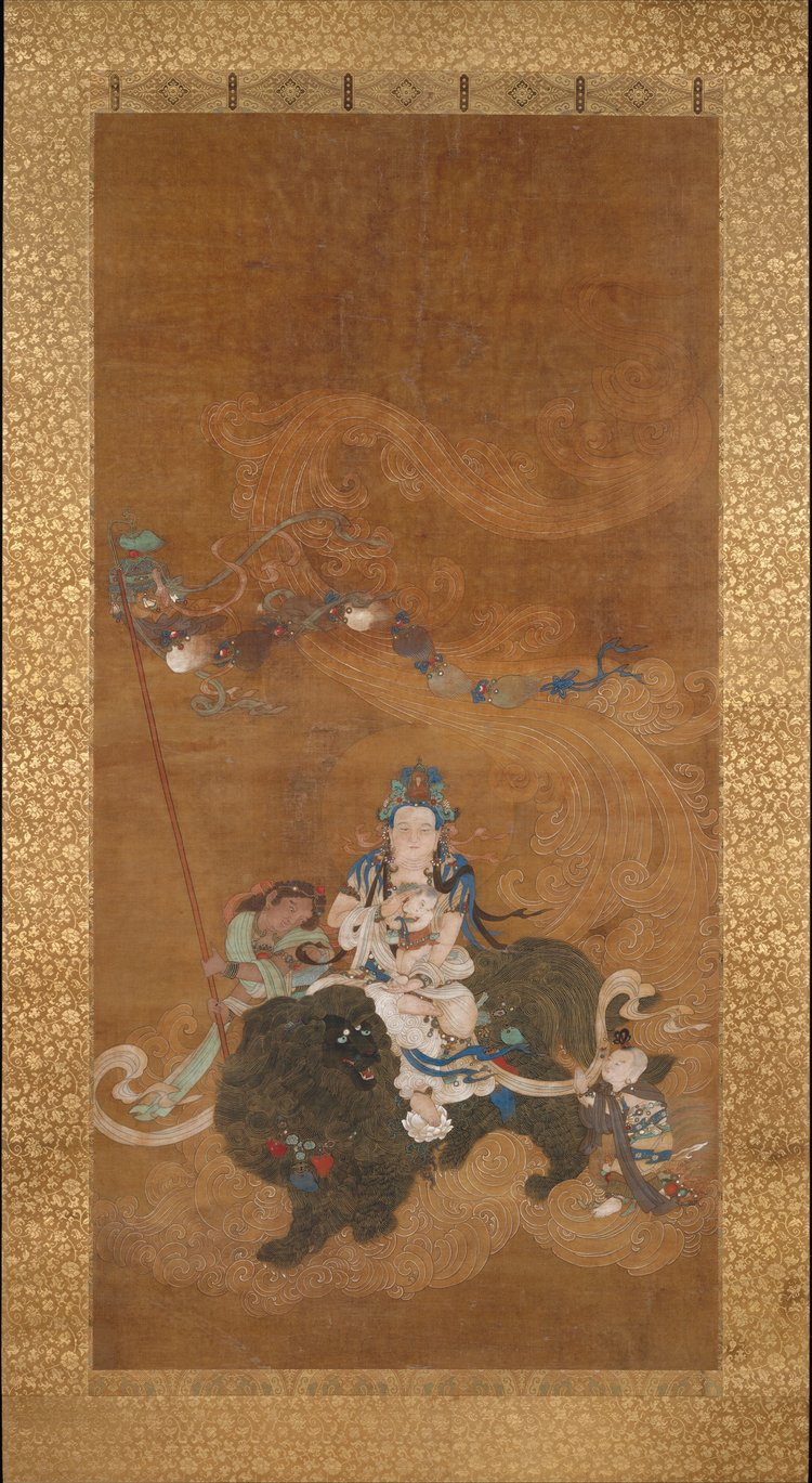 Guanyin Bestowing a Son. Late 16th century. Ming Dynasty. China. Image Courtesy of The Met .