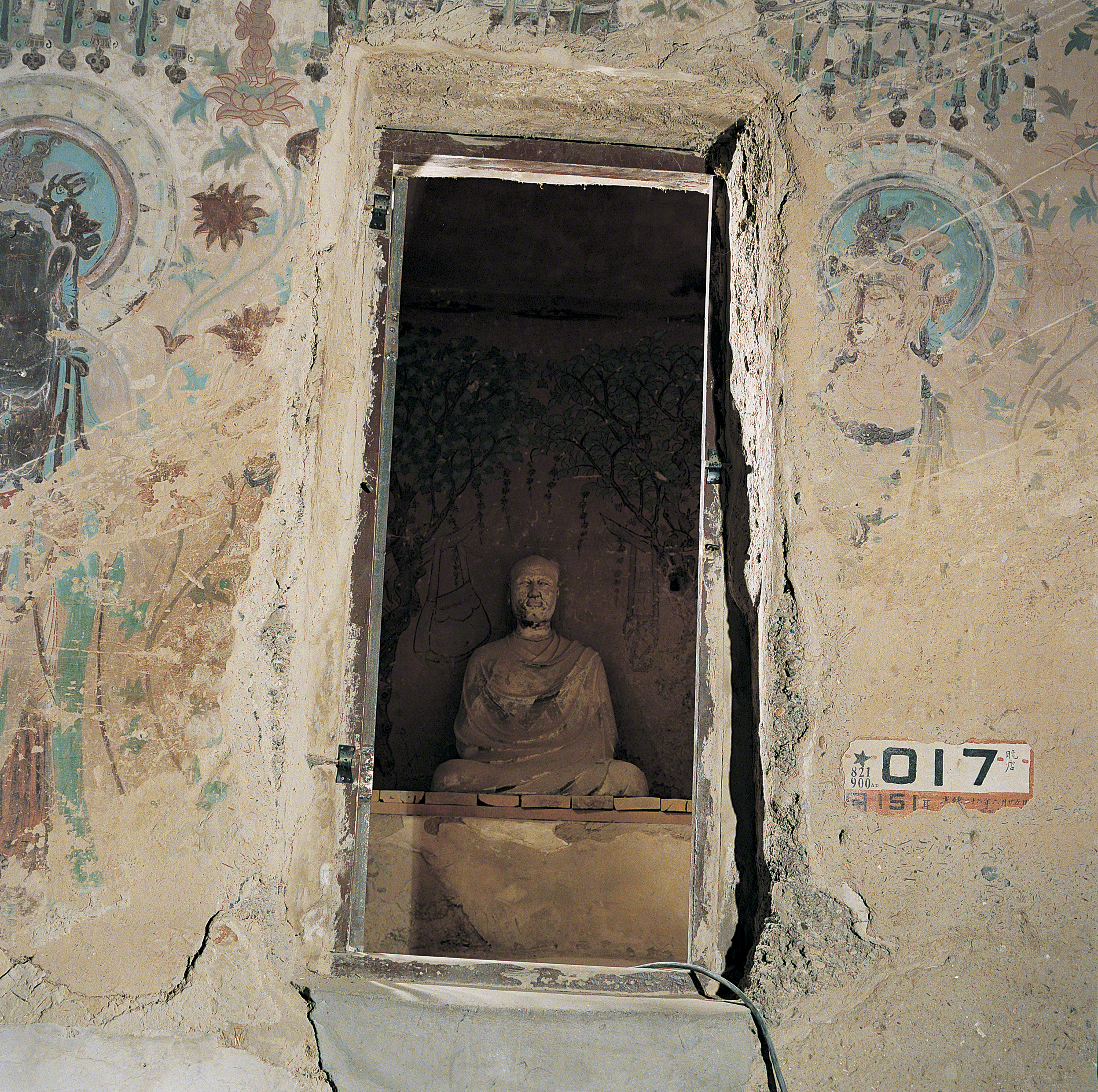 Mogao Cave 17.Late Tang, 848-907 CE. Dunhuang. Image courtesy of the Dunhuang Academy.
