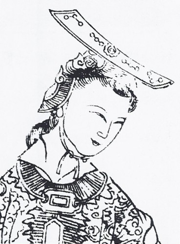A 17th-century Chinese depiction of Wu, from  Empress Wu of the Zhou , 1690.  Wiki Commons .