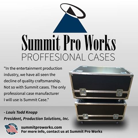 Summit Pro Works designs the best cases in the business. Call (937) 305-7717 or visit online summitproworks.com.