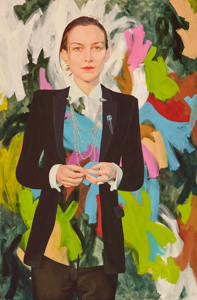 Kim Leutwyler painted the beautiful Ollie Henderson