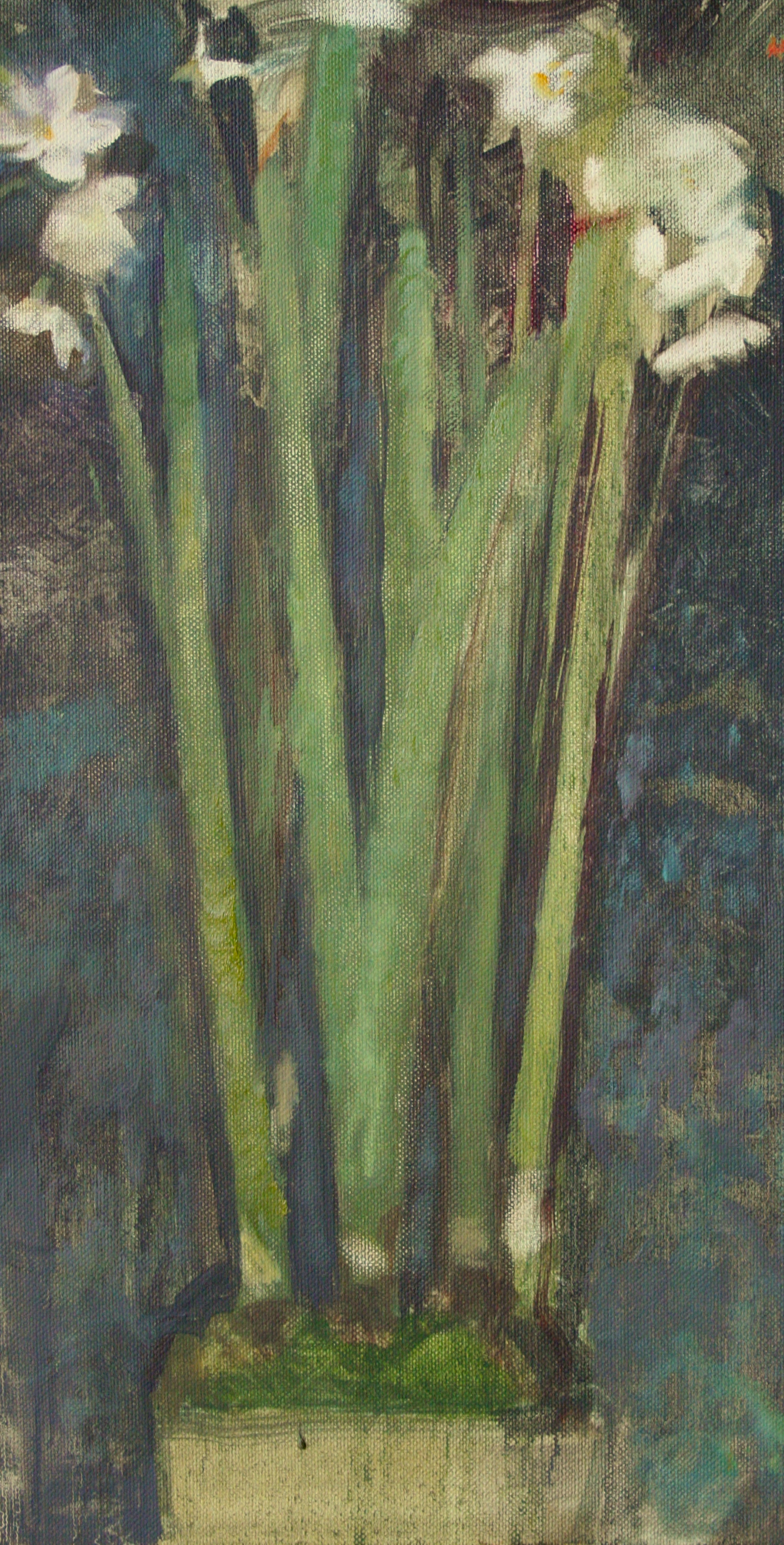 """Paper Whites, Oil On Canvas 12""""X22"""""""
