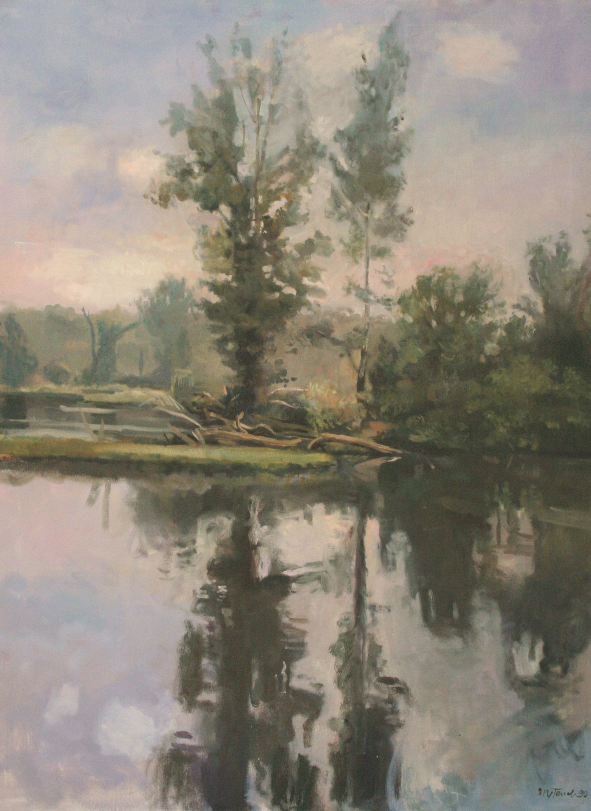The James River, Oil on canvas, 30X40