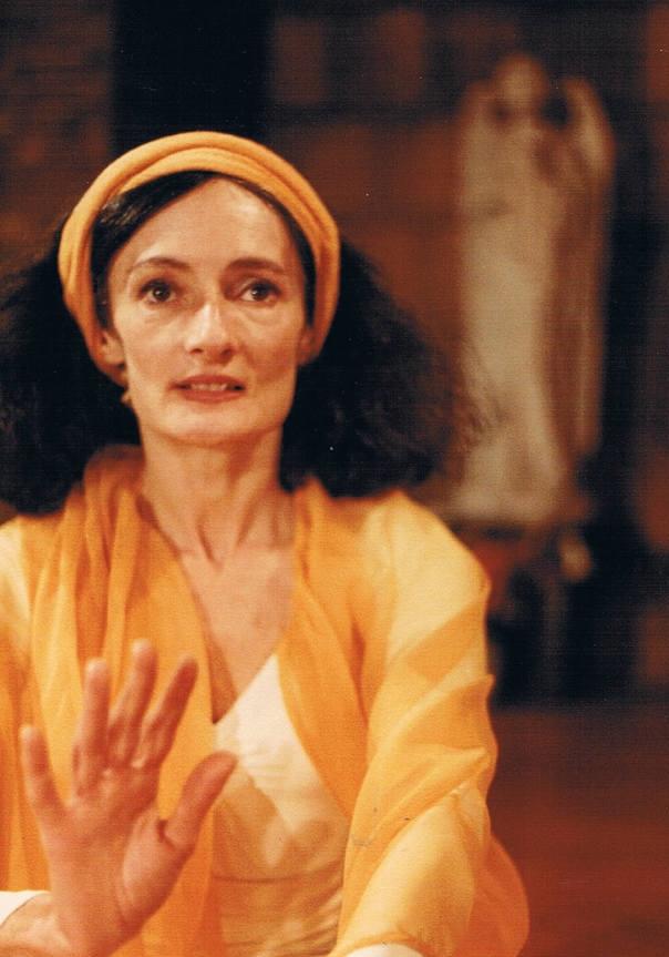 "Carla De Sola, founder of Omega, dancing ""Gloria"" from the Missa Criolla, circa 1980."