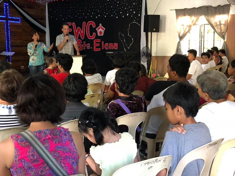 Joe Wilson, NewThing Global Catalyst, speaking at a network church in the Philippines.